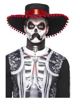 Mexikói Halottak Napja Csontváz Smink Szett