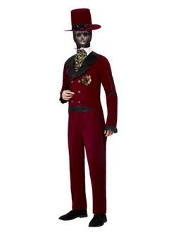Mexikói Halottak Napja Vőlegény Férfi Jelmez Halloweenre