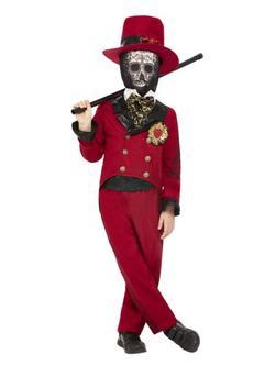 Mexikói Halottak Napja Vőlegény Kisfiú Jelmez Halloweenre