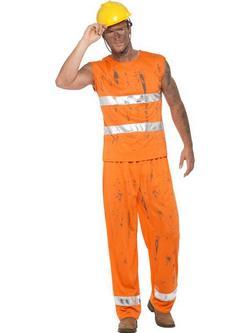 Narancssárga Bányász Jelmez Férfiaknak - XL