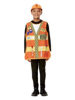 Narancssárga Építőipari Munkás Jelmezkellék Szett Gyerekeknek