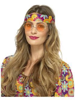 Narancssárga Hippi Szemüveg