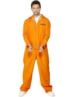 Narancssárga Szökött Rab Férfi Jelmez