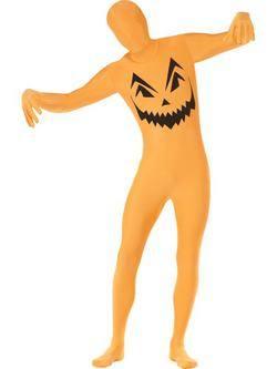 Narancssárga Tök Testhez Álló Férfi Jelmez
