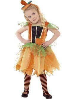 Narancssárga Tök Tündér Gyerek Jelmez