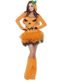 Narancssárga Tök Tütü Női Jelmez