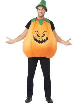Narancssárga-Zöld Tök Férfi Jelmez