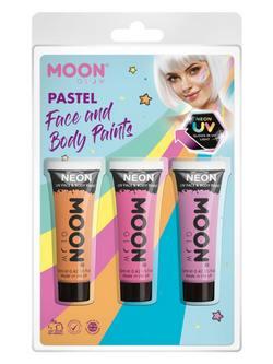 Neon Arc- és Testfesték - Narancssárga, Rózsaszín és Orgonalila, 12 ml