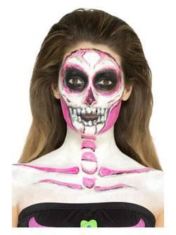 Neon Csontváz Latex Folyadék 4 Különböző Színű Festékkel és Szivaccsal
