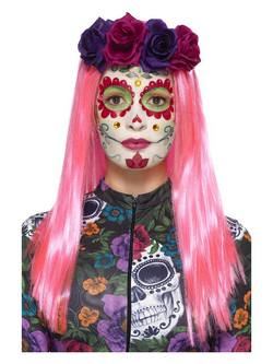 Neon Mexikói Halottak Napja Smink Szett