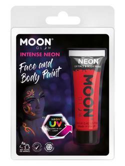 Neon Piros Tubusos Arc- és Testfesték Csomagolásban - 12 ml