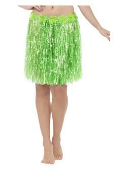 Neon Zöld Virágos Hawaii Szoknya Állítható Derékrésszel