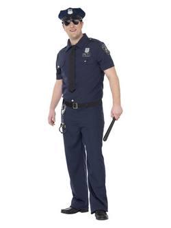 NYC Rendőr Férfi Jelmez -XL