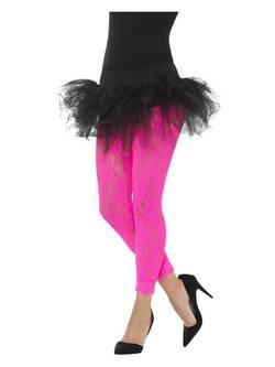 Pink Női Csipkeleggings
