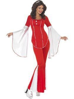 Piros ABBA Super Trouper Női Jelmez
