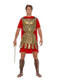 Piros-Arany Római Gladiátor Jelmez Férfiaknak - L
