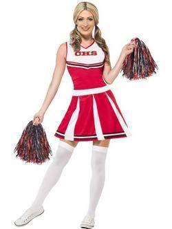 Piros Cheerleader Női Jelmez
