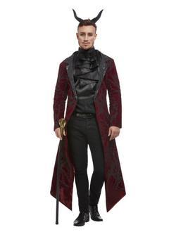 Piros Elegáns Ördög Férfi Jelmez Halloweenre