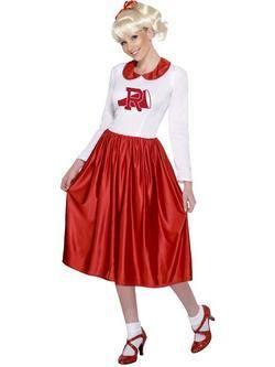 Piros-Fehér Grease Sandy Női Jelmez
