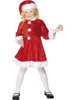 Piros-Fehér Mikulás Kislány Jelmez