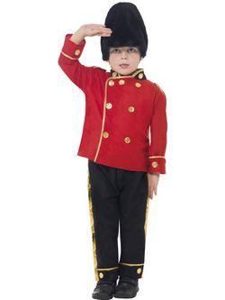 Piros-Fekete Brit Királyi Testőr Kisfiú Jelmez