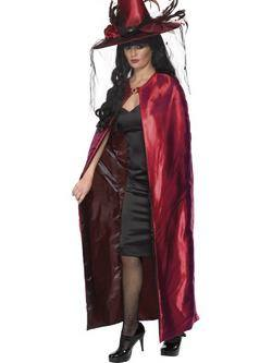 Piros-Fekete Kifordítható Boszorkány Köpeny