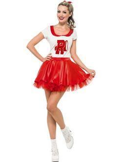 Piros Grease Sandy Cheerleader Női Jelmez