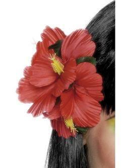 Piros Hawaii Csatos Virág Dísz