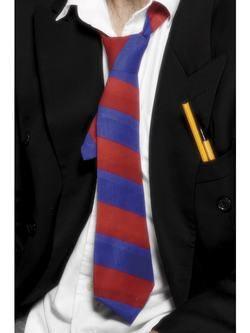 Piros-Kék Csíkos Nyakkendő