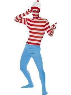 Piros-Kék Hol Van Wally? Testhez Álló Férfi Jelmez