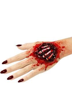 Piros Latex Nyílt Műseb Kilátszódó Csontokkal Ragasztóval