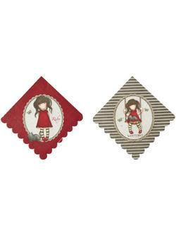Piros Santoro Gorjuss Ruby Papír Parti Szalvéta - 33x33 cm, 8 db-os