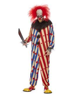 Rémisztő Bohóc Férfi Jelmez Halloweenre