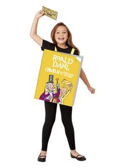Roald Dahl Charlie és a Csokigyár Óriás Könyv Gyerek Jelmez