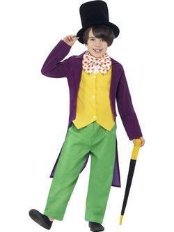Roald Dahl Charlie és a Csokigyár Willy Wonka Kisfiú Jelmez