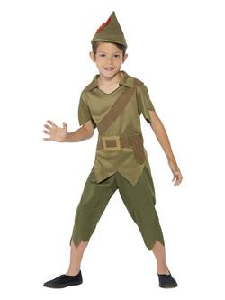 Zöld Robin Hood Kisfiú Jelmez 3 Kiegészítővel