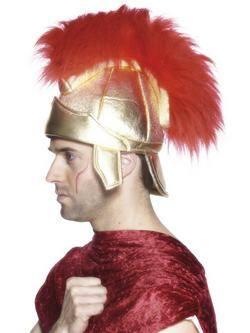 Római Páncélsisak Piros Tollazattal