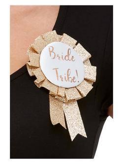 Rosegold Bride Tribe Feliratos Szalagos Kitűző Lánybúcsúra