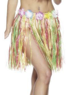 Rövid Színes Virágos Hawaii Fűszoknya Gumis Derékkal