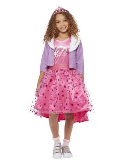 Rózsaszín Barbie Hercegnő Kaland Kislány Jelmez