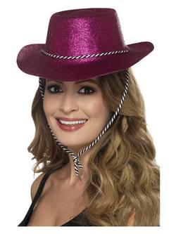 Rózsaszín Glitteres Cowboy Kalap