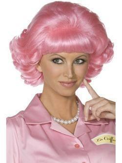 Rózsaszín Grease Frenchy Paróka