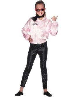 Rózsaszín Grease Pink Ladies Dzseki Kislány Jelmez