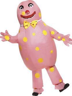 Rózsaszín Mr Blobby Férfi Jelmez