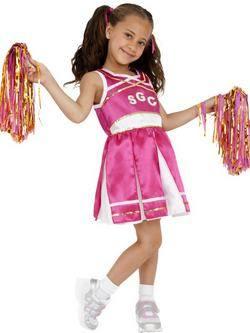 Rózsaszín Pom-Pom Lány Cheerleader Kislány Jelmez