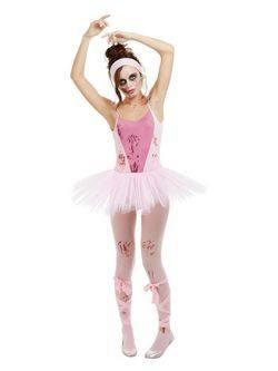 Rózsaszín Zombi Balerina Női Jelmez