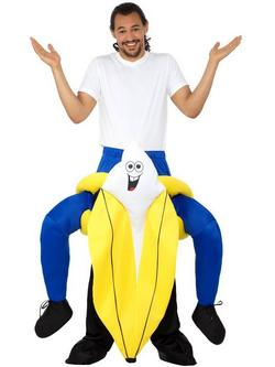 Sárga Banán Hátán Lovagló Jelmez Férfiaknak