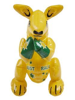 Sárga Felfújható Kenguru Ausztrália Felirattal