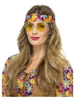 Sárga Hippi Szemüveg