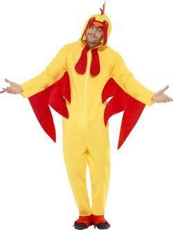 Sárga-Piros Csirke Férfi Jelmez